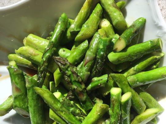 Honey balsamic-glazed asparagus