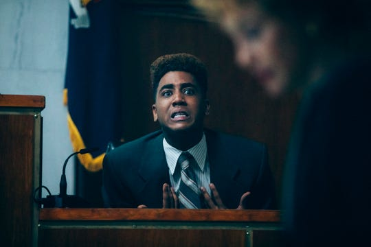 "Jharrel Jerome and Vera Farmiga in the film ""When They See Us."""