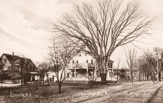 The old house on Maple Avenue, circa 1900.