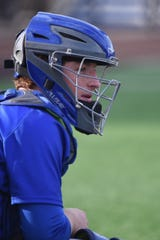This photo of Henry Juan behind the plate for Horseheads High School was one of thousands taken by his mom, Mary Juan.