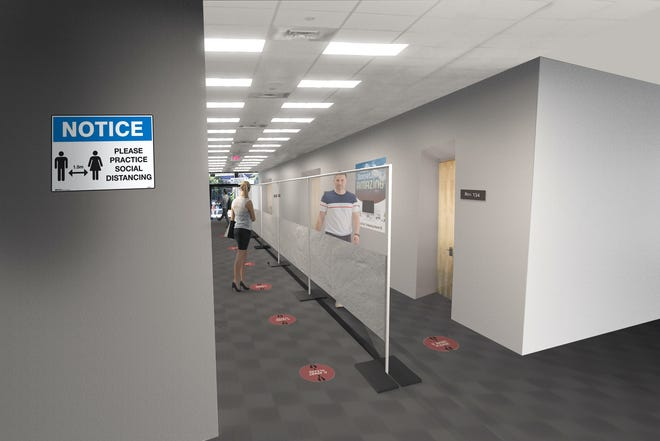 A rendering of partition walls that can be provided by Anchor.