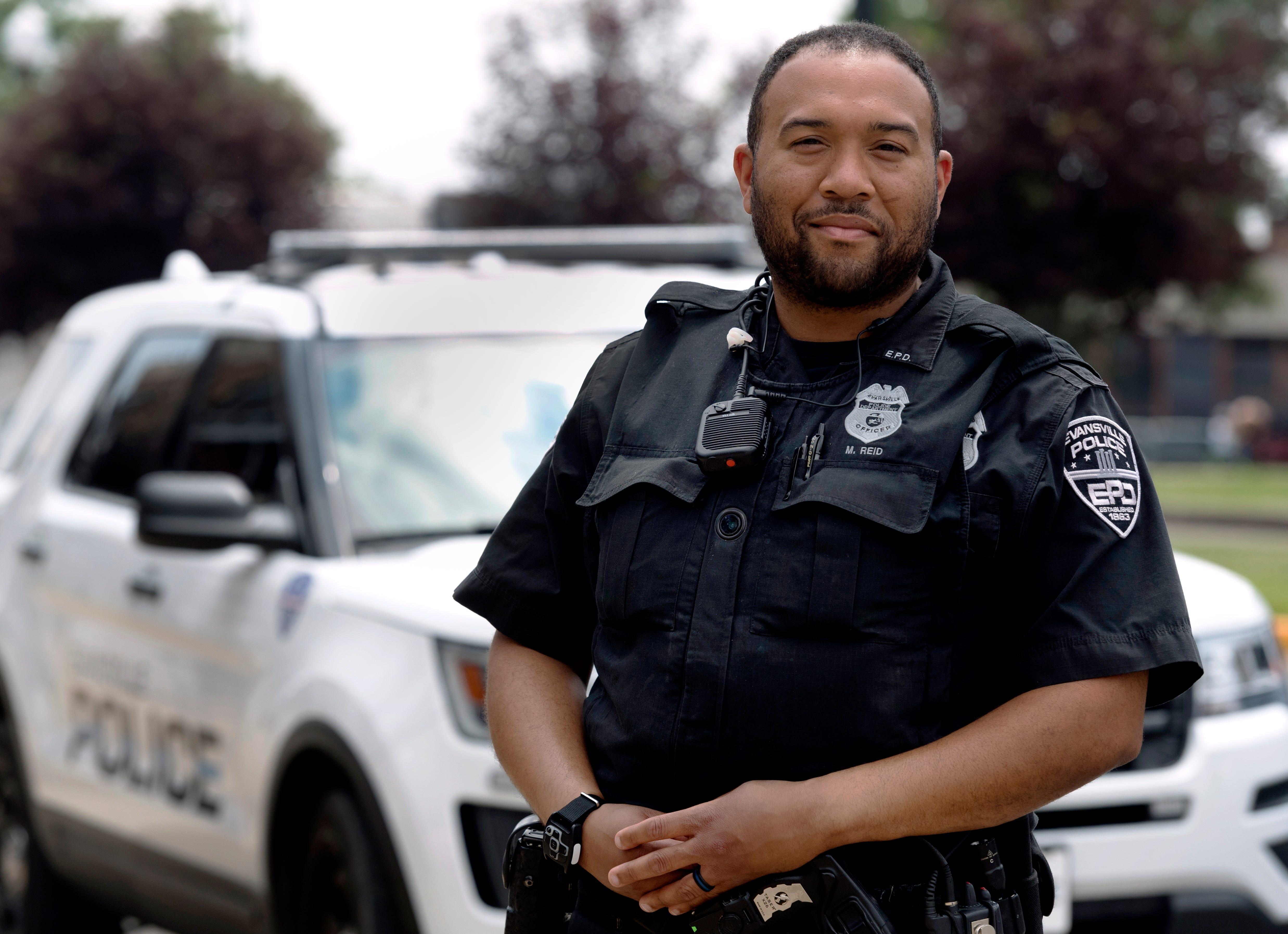 Evansville Police Department officer Mario Reid