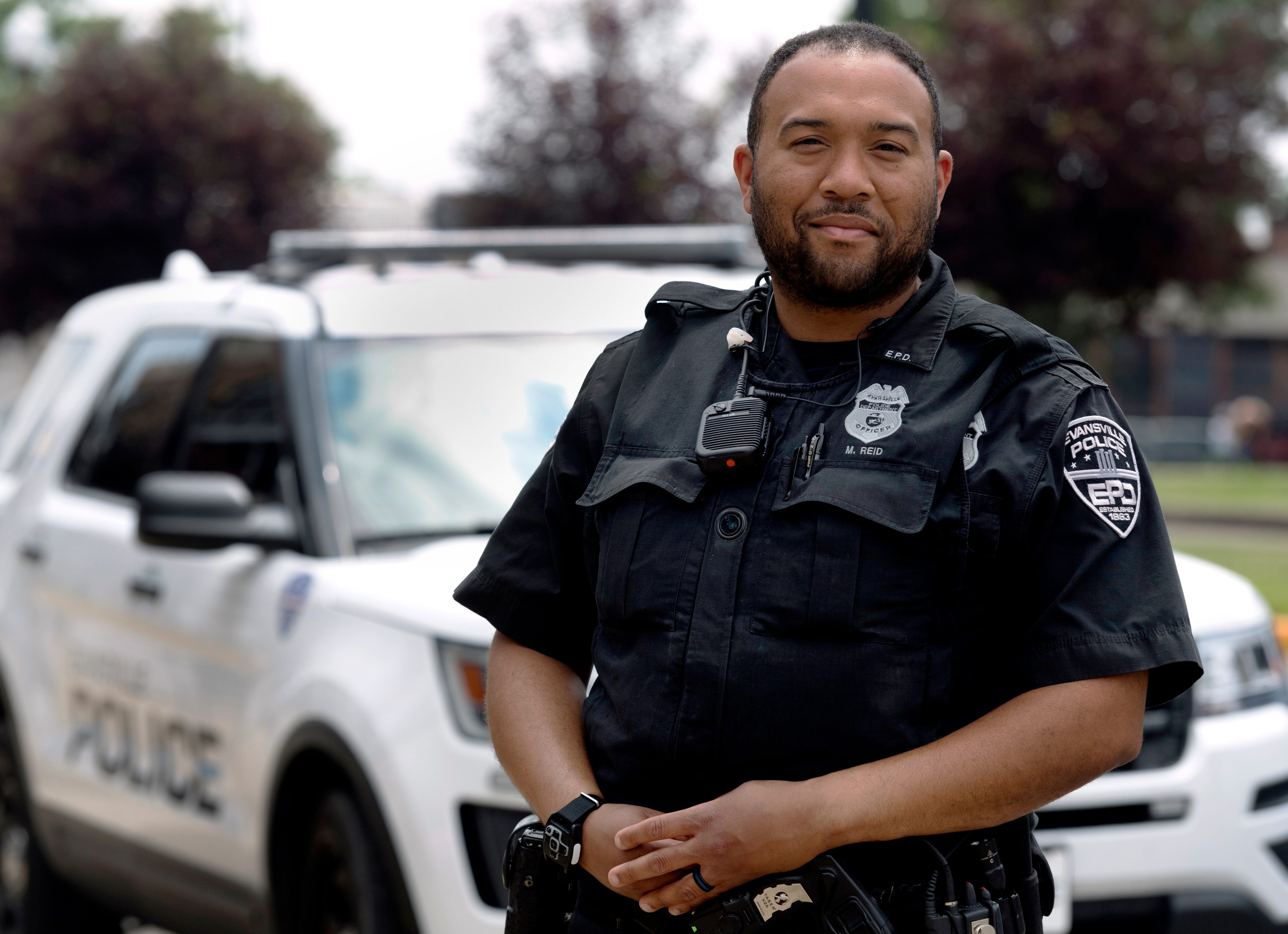 Evansville Police Department officer Mario Reid