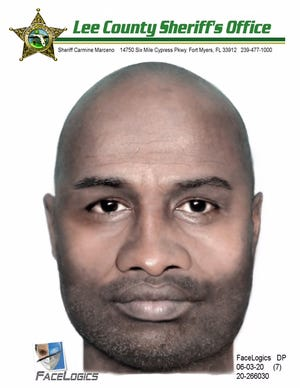A sketch of a suspect involved in attempting to lure a girl into his vehicle on Saturday, May 30, 2020 in Cape Coral.