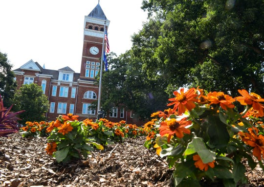 Flowers in bloom for the  summer, Clemson University with its signature architecture of Tillman Hall with classrooms is almost ready to reopen.