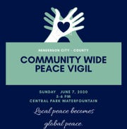 Community Peace Vigil planned for June 7 in Central Park.