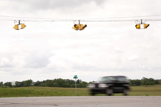 A car travels along U.S. 231 at the Tippecanoe County Road 800 South intersection, Thursday, June 4, 2020 in Lafayette.