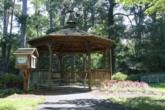 Bob and Linda Draper donated this gazebo to Kiroli Park in memory of Bob's daughter, Karen Dawn Draper.