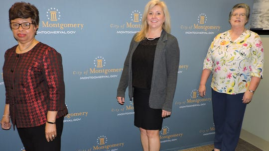 From left, Betty Beville, Stacy Bellinger and Kay McCreery have been named to cabinet-level positions for the city.