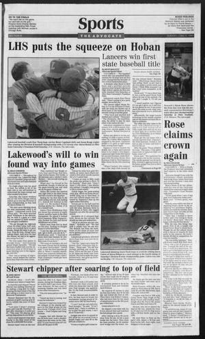 Lakewood baseball won its first state title while Newark's Adam Rose repeated as shot put champion.