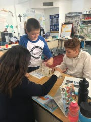 The fifth, sixth and seventh grade science class at St. Frances Cabrini Catholic School in Alamogordo.