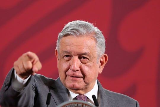 El presidente de México, Andrés Manuel López Obrador, ofrece una rueda de prensa matutina en el Palacio Nacional, en Ciudad de México.