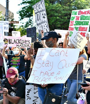 More than 1,000 participate in the York Black Lives Matter Peaceful Protest in York City, Tuesday, June 2, 2020. It would be the second day of larger scale protests in the city following the death of George Floyd, a Minnesota man who died in police custody on May 25. Dawn J. Sagert photo