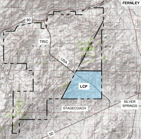 A map shows the proposed Northern Nevada Industrial Center.