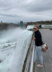 Traveling nurse Amy Hindbjorgen visits Niagara Falls during a short vacation between hospital assignments in May.