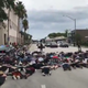 Protesters lay face down on the street and sidewalk in front of police and traffic in Vero Beach during a Black Lives Matter march June 4, 2020.