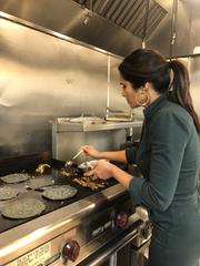 Padma Lakshmi learns how to make El Campesino tacos at Elemi restaurant in Downtown El Paso.