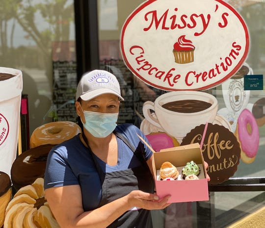 Missy Drayton is the owner of Missy's Cupcake Creations in Ventura. The business also offers vegan and regular doughnuts.