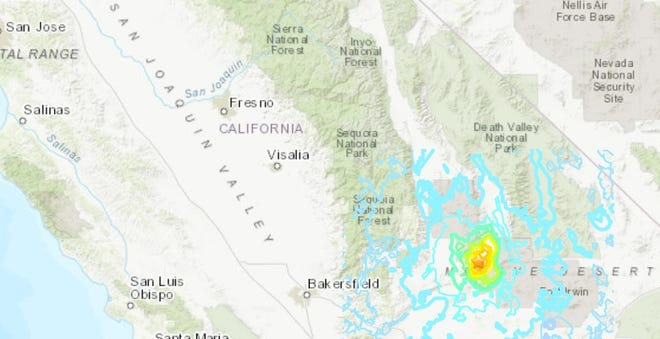 A 5.5 earthquake shook parts of California and Ridgecrest Wednesday, June 3, 2020.