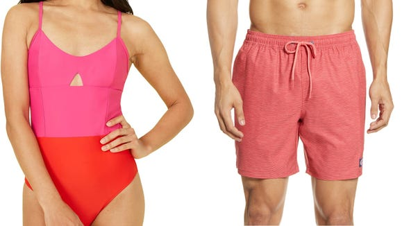 Score both men's and women's swimwear for up to 63% off at Nordstrom.