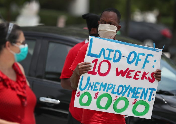 Coronavirus unemployment benefit extensions should turn off only when economy recovers