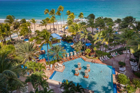 Ocean views at the San Juan Marriott Resort & Stellaris Casino in Puerto Rico.