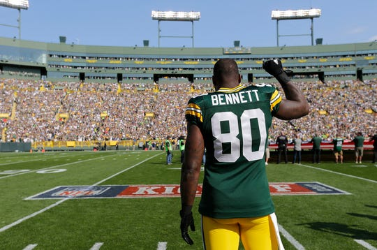 Former NFL TE Martellus Bennett played half of his final season with the Packers in 2017.