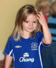 This undated file photo shows Madeleine McCann. British police said on Wednesday June 3, 2020, a German man has been identified as a suspect in the case of a 3-year-old British girl who disappeared 13 years ago while on a family holiday in Portugal.