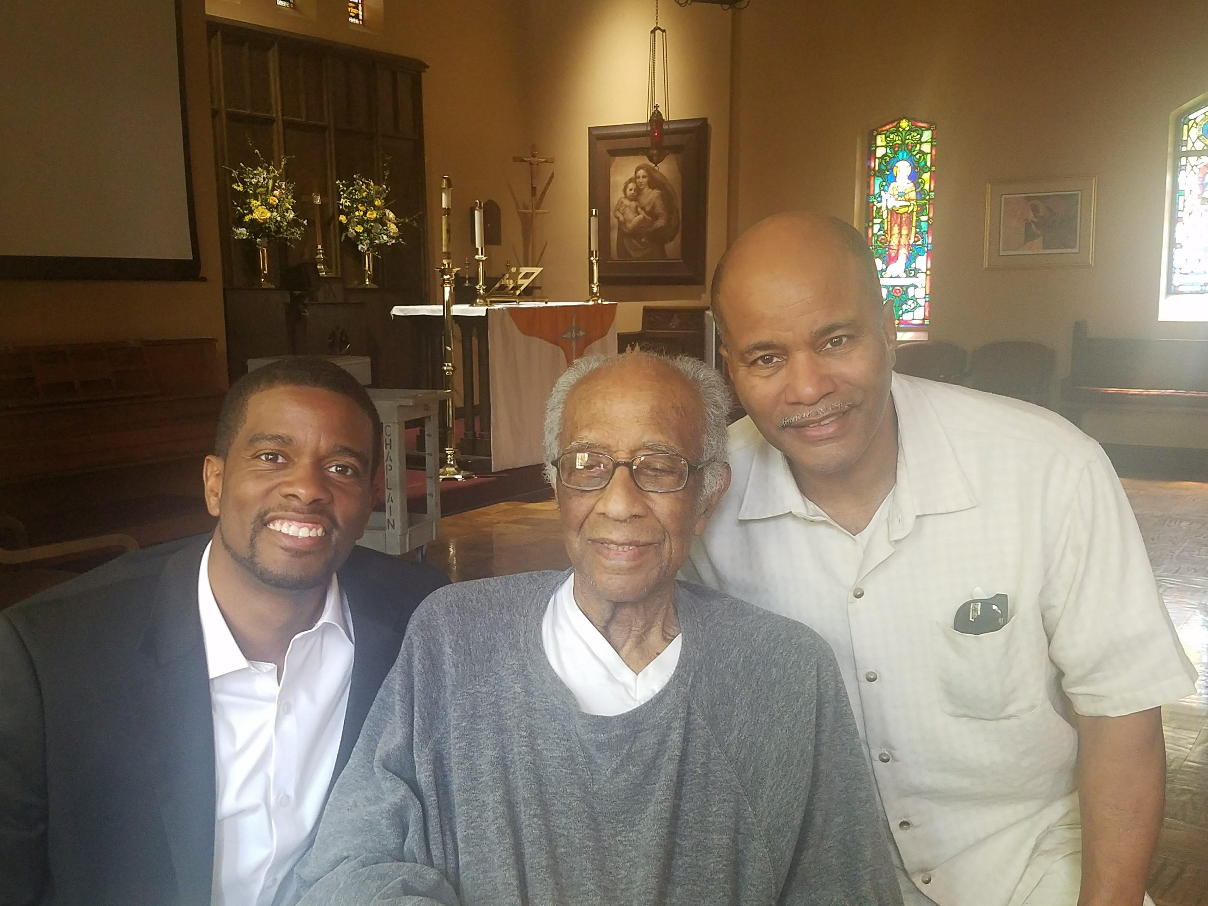 St. Paul, Minn. Mayor Mel Carter, his grandfather Melvin Carter, Sr. and father, Melvin Carter, Jr.