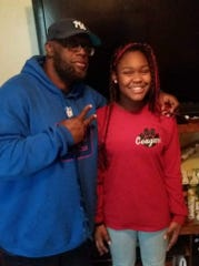 Idris Salaam with granddaughter Danielle Taylor