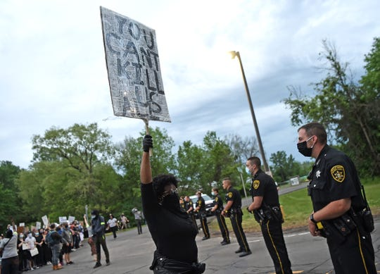 Black Lives Matter protest at the Broome County Jail, June 4, 2020.
