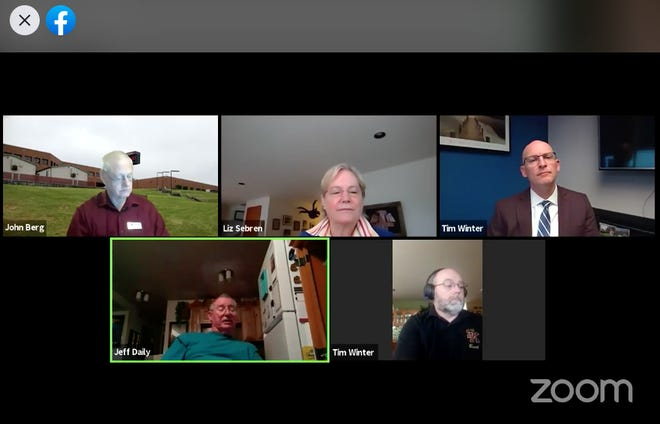 The South Kitsap school board meeting by Zoom June 3, 2020, was interrupted by hackers who posted pornography and used racial epithets. The meeting was shut down and resumed in webinar format with written comments only.