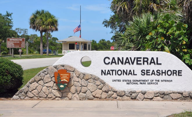 The entrance of the Canaveral National Seashore.