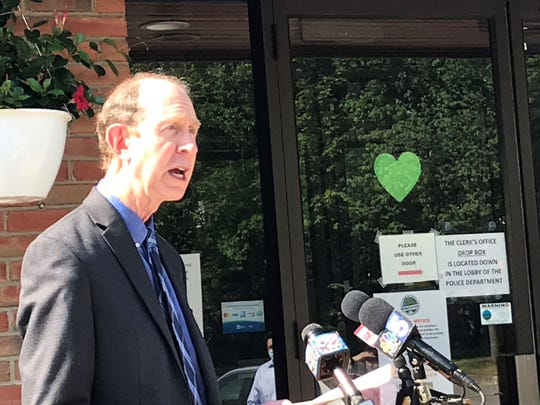 Dr. Mark Levine, commissioner of the Vermont Department of Health, addresses the Winooski COVID-19 cluster at a press conference on Friday, June 5, 2020.