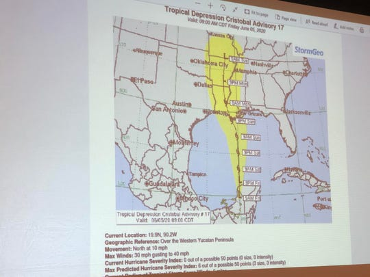 Gov. Greg Abbott on Friday, June 5, 2020, provided an update on Tropical Depression Cristobal, which was upgraded to a tropical storm.