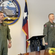 "Rear Adm. Robert ""Gimp"" Westendorff (left) takes over command from Rear Adm. Daniel ""Dozer"" Dwyer"" as the Chief of Naval Air Training in Corpus Christi on Friday, June 5."