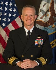 """Rear Adm. Daniel """"Dozer"""" Dwyer, former Chief of Naval Air Training, will be relocated to Fort Meade, Maryland to lead U.S. Cyber Command."""