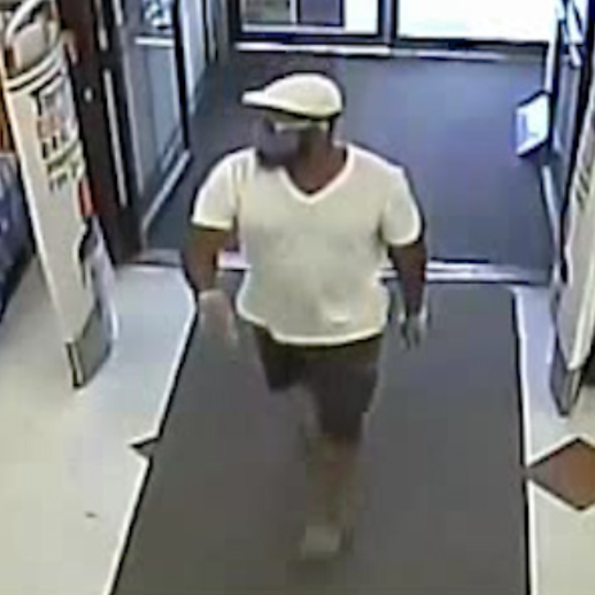 Police have released surveillance video of a suspect in armed robberies in Magnolia and Somerdale.