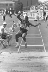 Shad Sudderth of Chillicothe came in 12th in the Division I long jump at the 1996 state track meet.