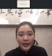 Silvia Xia made a research presentation on Zoom all the way from her home in China.