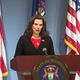 Gov. Whitmer appears at a news conference on June 5, 2020. `