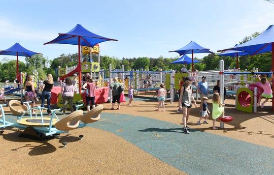 Kids enjoy the new Scarlet's Playground.