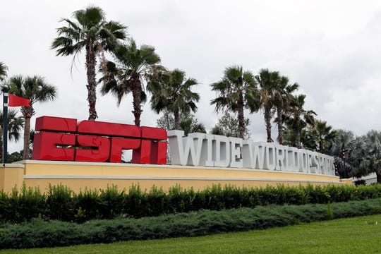 A sign marking the entrance to ESPN's Wide World of Sports at Walt Disney World.