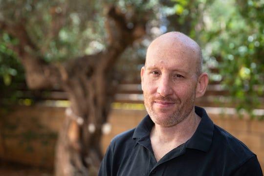 Israeli software developer Itamar Lev  at his house in the central Israeli city of Kfar Saba.