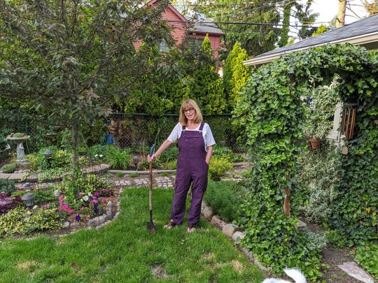 C.J. Harrison cooked like crazy in March, but is now fully immersed in her Grosse Pointe Farms garden.