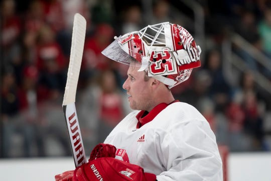 """Jimmy Howard: """"I love this state, this city, and this city is home to us now. I would want to finish my career a Red Wing."""""""