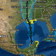 The National Hurricane Center in Miami shows the projected path of Tropical Depression Cristobal as it makes its way to the coastal United States, Friday, June 5, 2020.