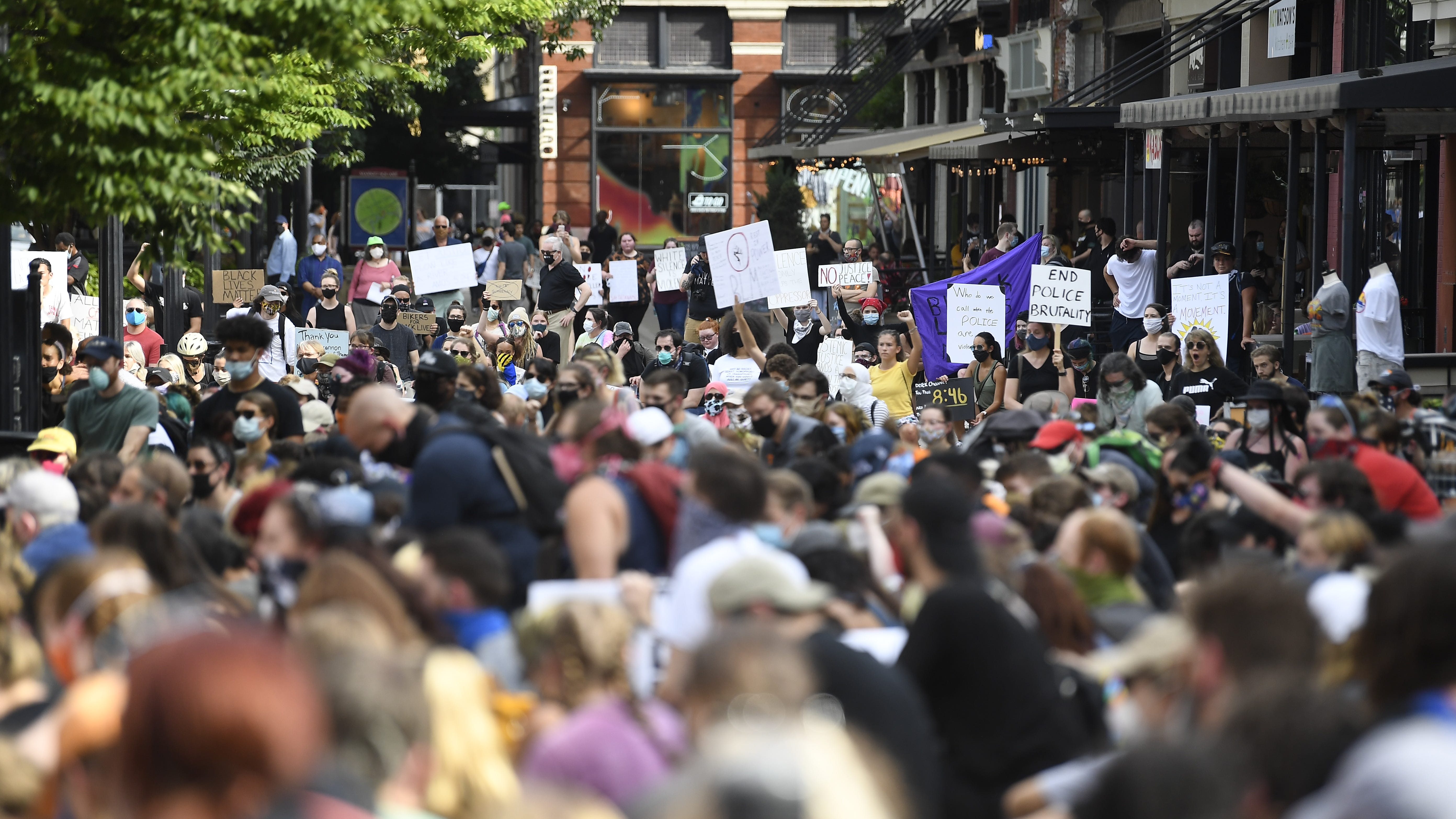 Peaceful protesters take to the streets as KPD announces a policy review