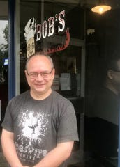 Bob Bennett opened Bob's Backyard Bar-B-Q and Cafe at 157 W. Main St. three years ago this month with his wife, Maggie.