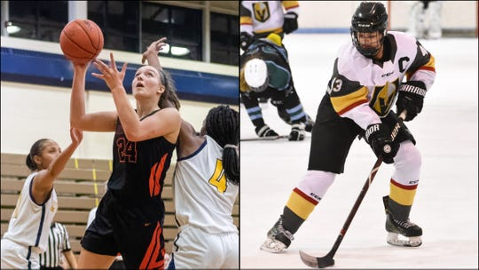 Sophie Dziekan (left) and Chloe Valente of Brighton are the finalists in the 2019-20 Livingston Daily Female Athlete of the Year tournament.